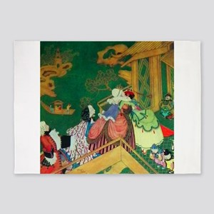 French Fairy Tale - The Green Serpe 5'x7'Area Rug