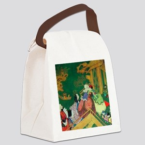 French Fairy Tale - The Green Ser Canvas Lunch Bag
