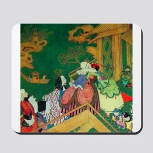 French Fairy Tale - The Green Serpent Mousepad