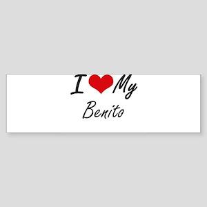 I Love My Benito Bumper Sticker