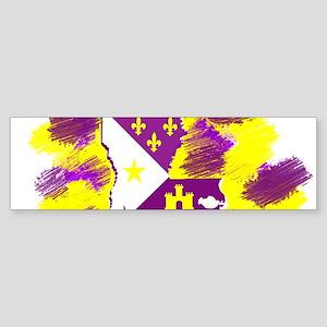 LOUISIANA PURPLE GOLD SCRATCH Bumper Sticker