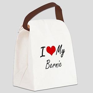 I Love My Bernie Canvas Lunch Bag