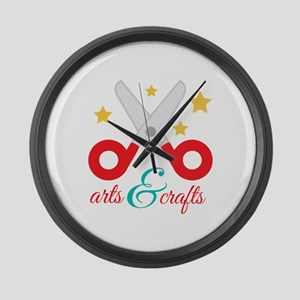 Arts & Crafts Large Wall Clock