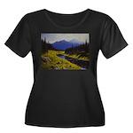 Summer forest landscape Plus Size T-Shirt