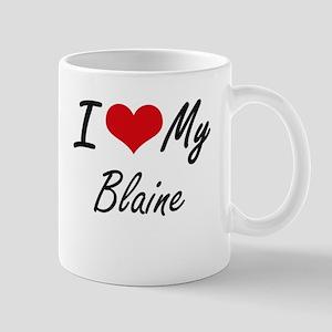 I Love My Blaine Mugs