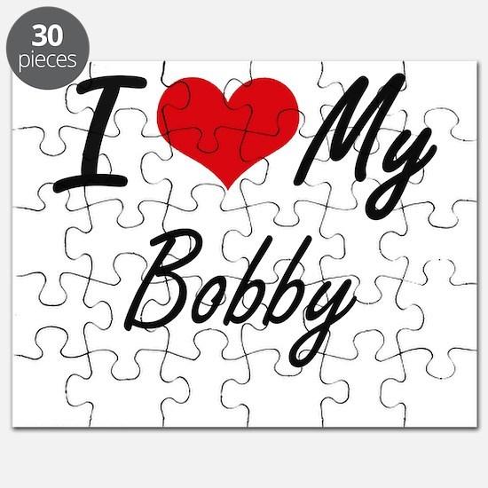 I Love My Bobby Puzzle