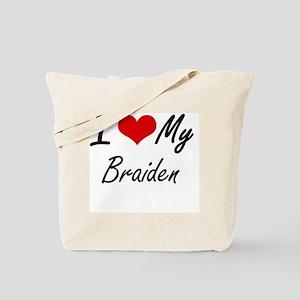 I Love My Braiden Tote Bag