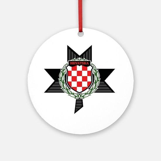Cute Hrvatska Round Ornament