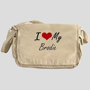 I Love My Brodie Messenger Bag