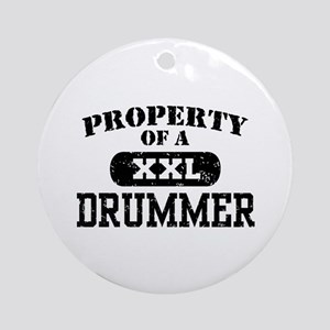 Property of a Drummer Ornament (Round)