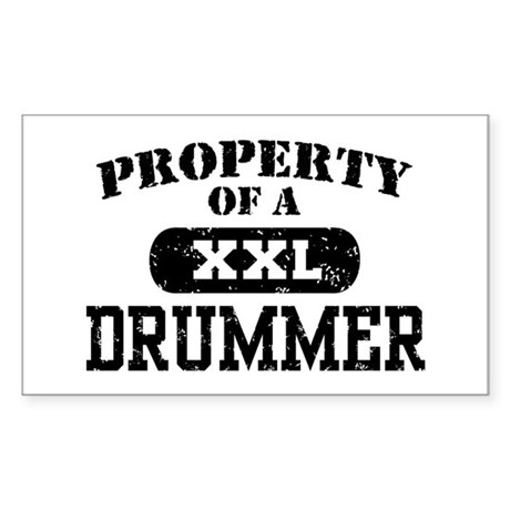 Property of a Drummer Rectangle Sticker