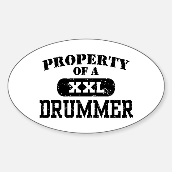 Property of a Drummer Oval Decal