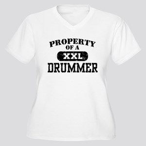 Property of a Drummer Women's Plus Size V-Neck T-S