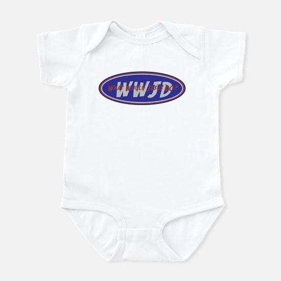 Blue Red White WWJD Infant Bodysuit
