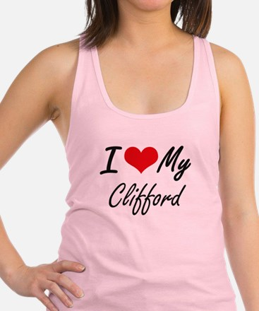 I Love My Clifford Racerback Tank Top