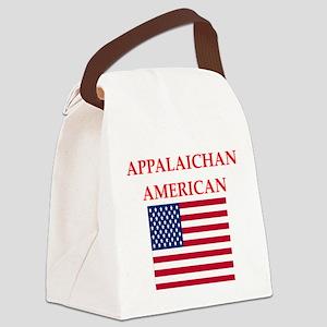 appalachian american Canvas Lunch Bag