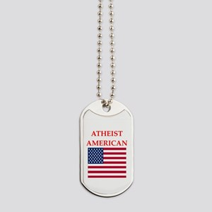 athiest american Dog Tags