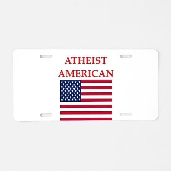 athiest american Aluminum License Plate