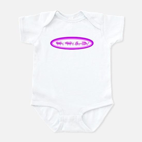 Purple Pink WWJD Infant Bodysuit