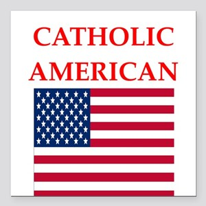 "catholic Square Car Magnet 3"" x 3"""
