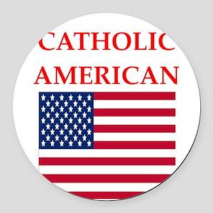 catholic Round Car Magnet