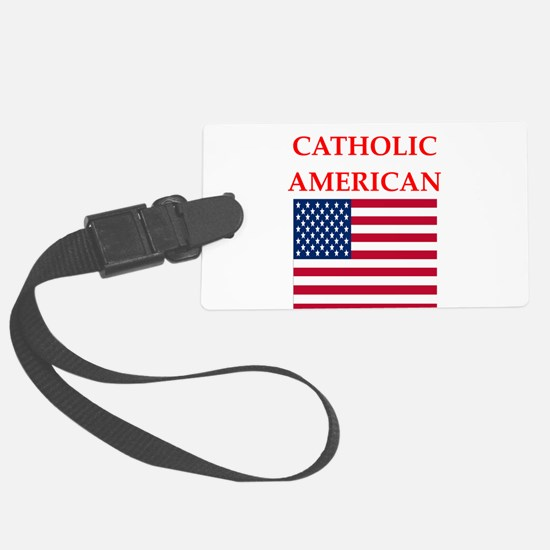 catholic Luggage Tag