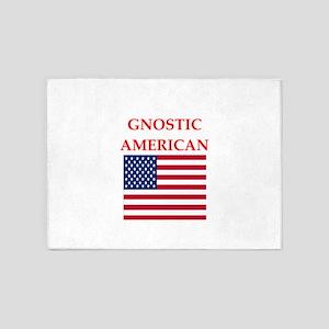gnostic american 5'x7'Area Rug