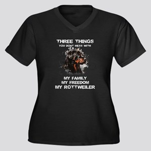 Rottweiler T-shirt - Three thing Plus Size T-Shirt