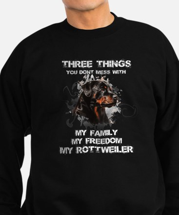 Rottweiler T-shirt - Three thing Sweatshirt (dark)