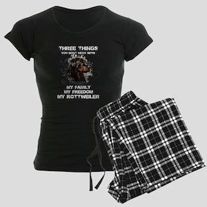 Rottweiler T-shirt - Three t Women's Dark Pajamas