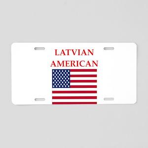 latvian Aluminum License Plate