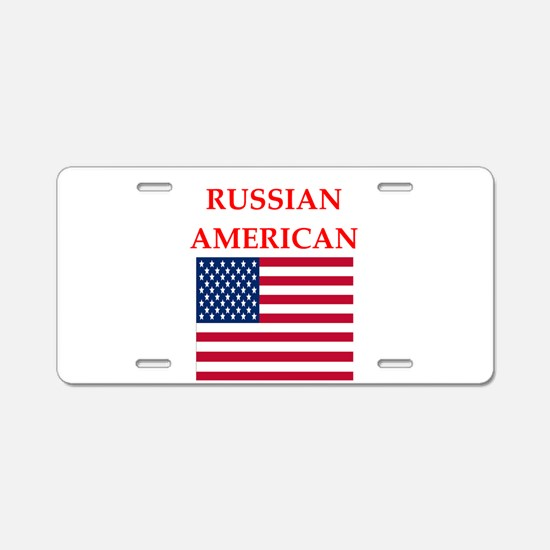 russian Aluminum License Plate