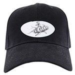 Chef Woman Black Cap with Patch
