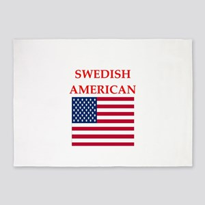 swedish 5'x7'Area Rug