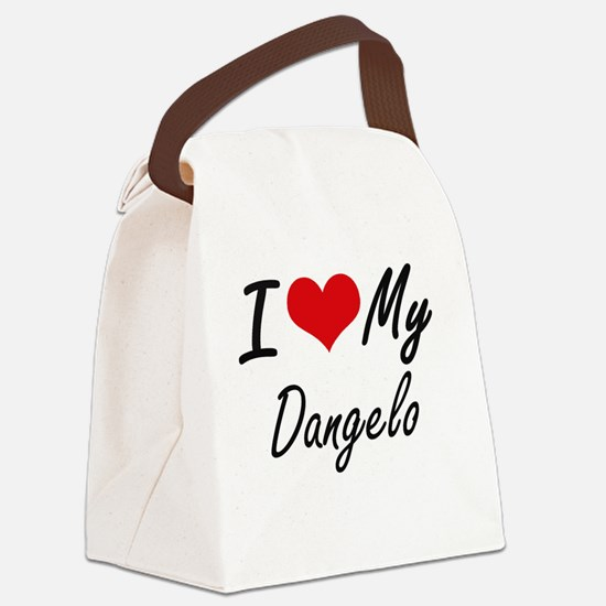 I Love My Dangelo Canvas Lunch Bag