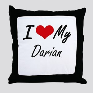I Love My Darian Throw Pillow