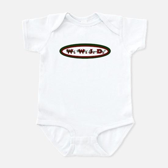 Green Red WWJD Infant Bodysuit