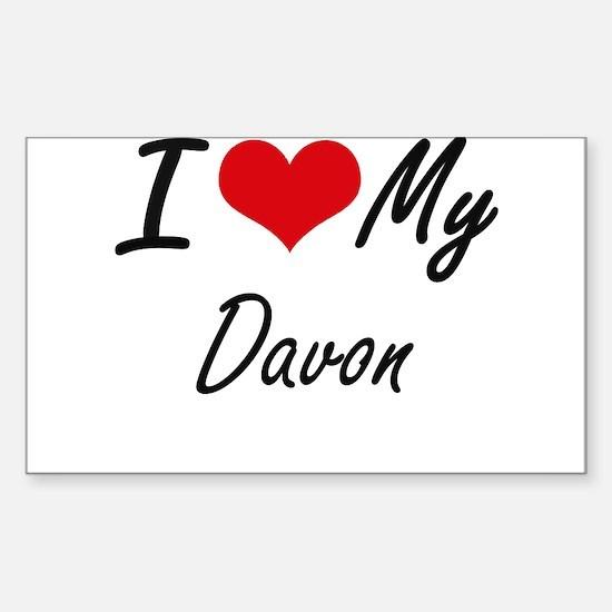I Love My Davon Decal