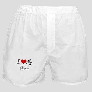 I Love My Devan Boxer Shorts