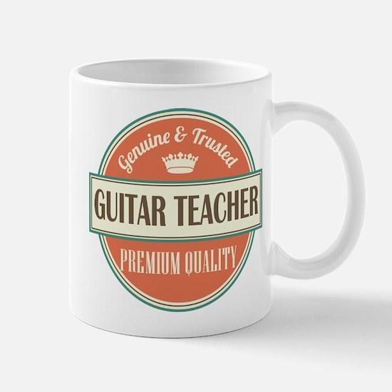 guitar teacher vintage logo Mug