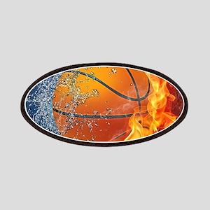 Flaming Basketball Ball Splash Patch