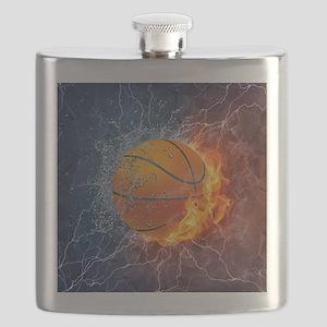 Flaming Basketball Ball Splash Flask