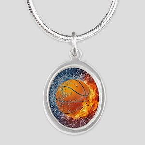 Flaming Basketball Ball Splash Necklaces