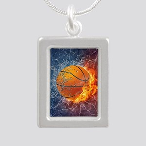 Flaming Basketball Ball Splash Necklaces