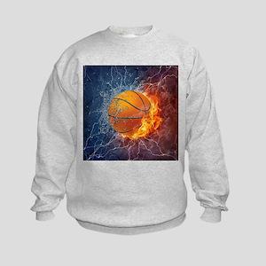 Flaming Basketball Ball Splash Sweatshirt