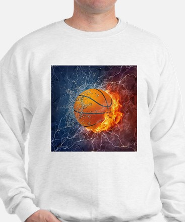 Flaming Basketball Ball Splash Jumper