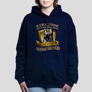 German Shepherd T-shirt Women's Hooded Sweatshirt