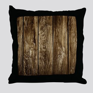Rustic Wood Planks Throw Pillow