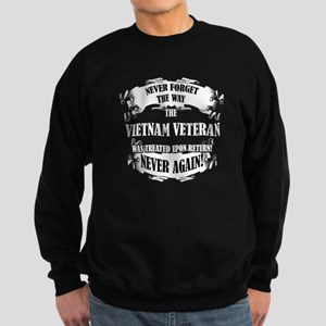 Vietnam Veteran T-shirt - Never Sweatshirt (dark)