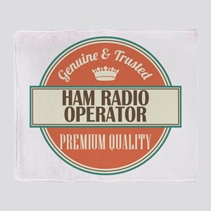 ham radio operator vintage logo Throw Blanket